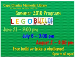 LEGO Build @ Cape Charles Memorial Library @ Cape Charles Memorial Library | Cape Charles | Virginia | United States