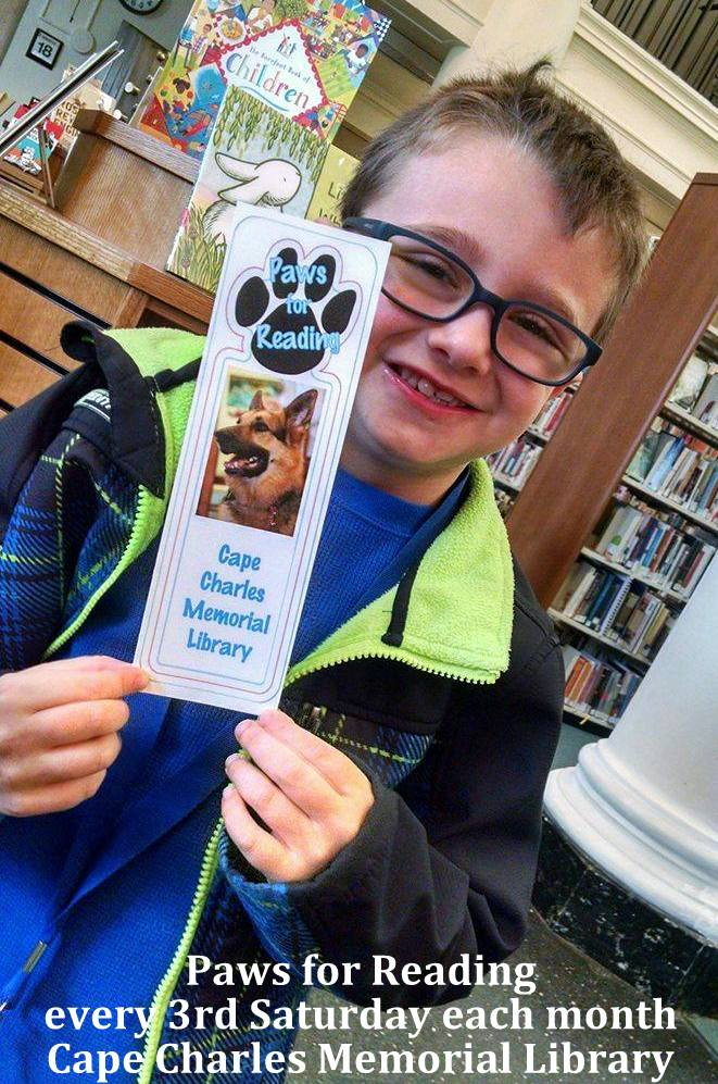Paws for Reading @ Cape Charles Memorial Library | Cape Charles | Virginia | United States