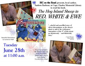 """Book Reading """"The Hog Island Sheep in Red, White, and Ewe"""" @ Cape Charles Memorial Library   Cape Charles   Virginia   United States"""
