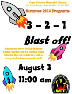 3-2-1 Blastoff! with NASA-Wallops @ Cape Charles Memorial Library | Cape Charles | Virginia | United States