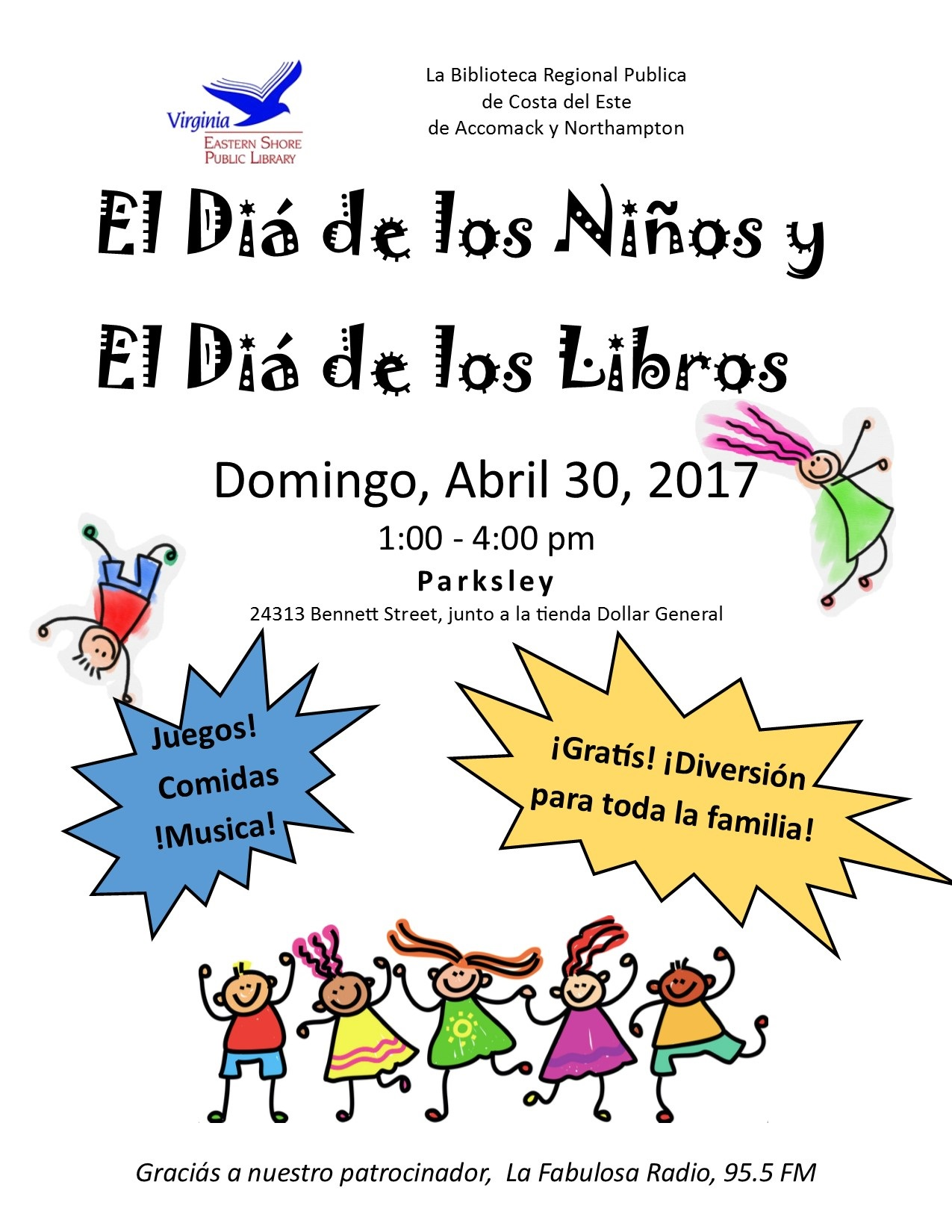 El Dia de los Ninos y El Diá de los Libros @ New Library Location in Parksley | Parksley | Virginia | United States