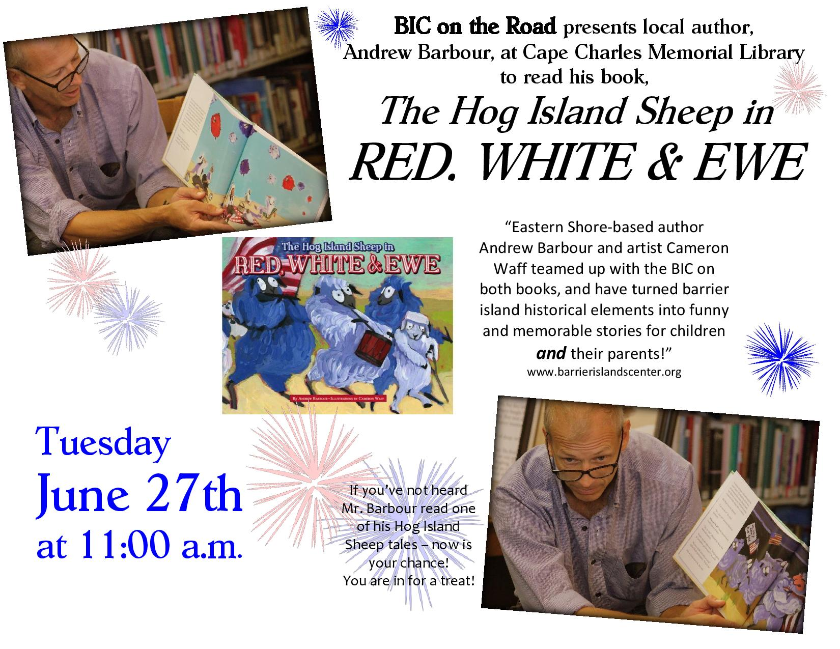 "BIC on the Road with ""Red, White, and Ewe"""