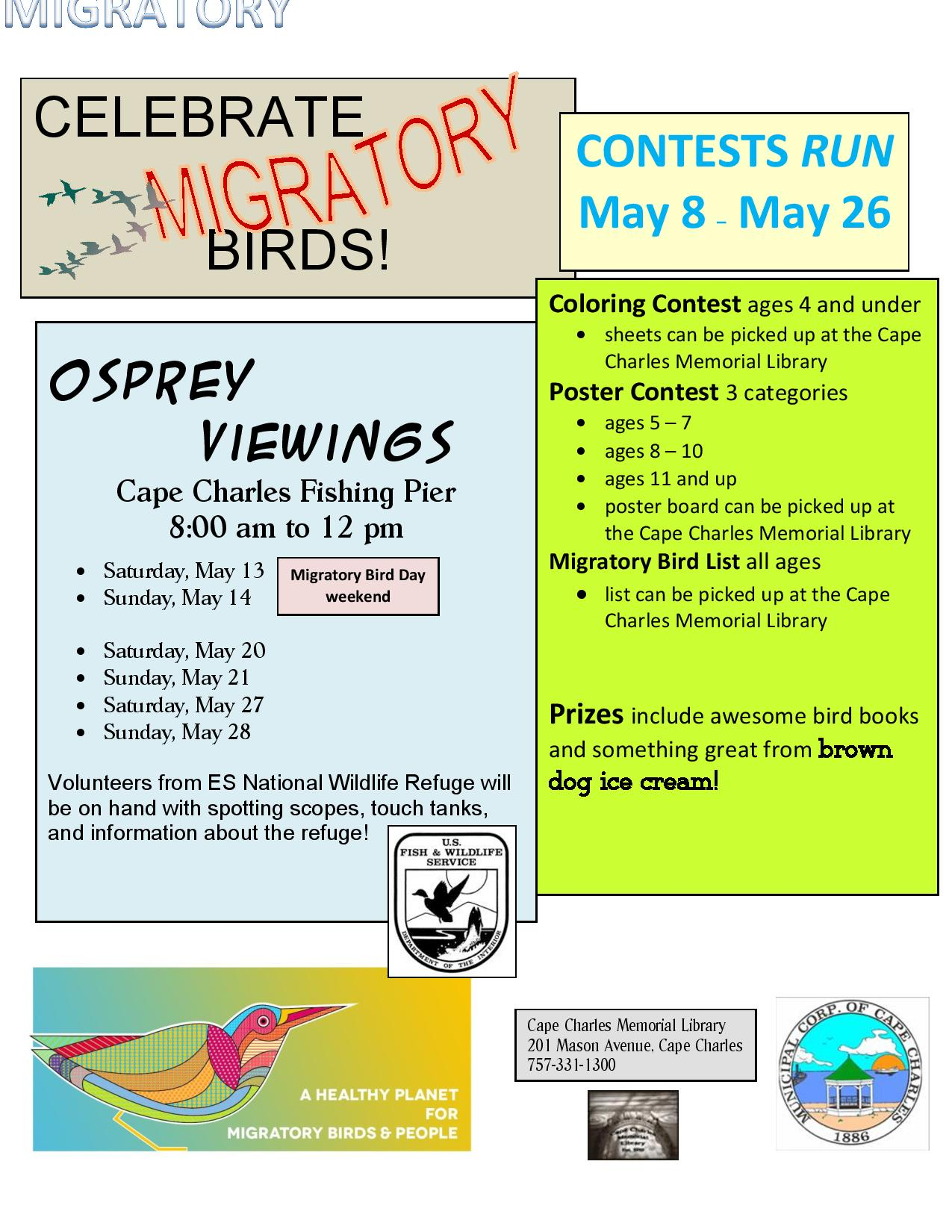 Celebrate Migratory Birds Contest @ Cape Charles Memorial Library