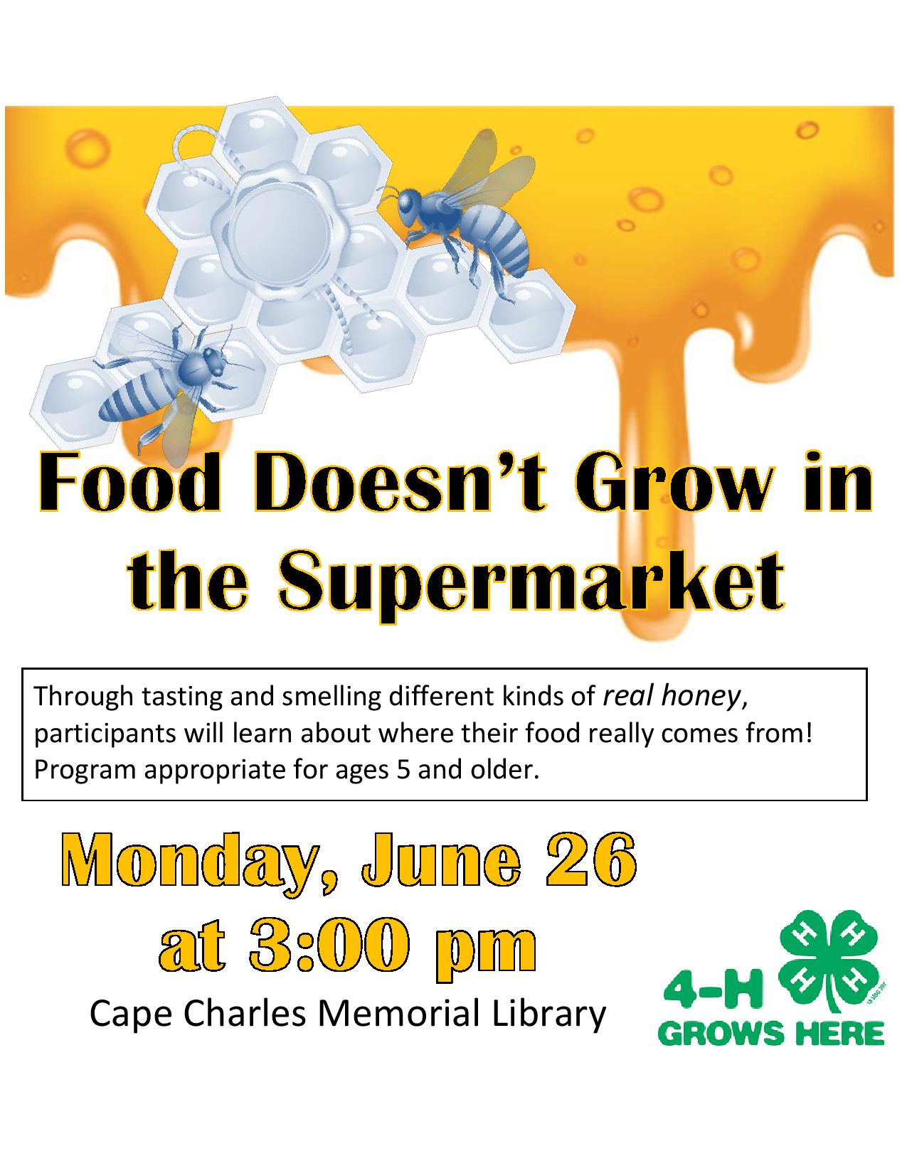 Food Doesn't Grow in the Supermarket @ Cape Charles Memorial Library | Cape Charles | Virginia | United States