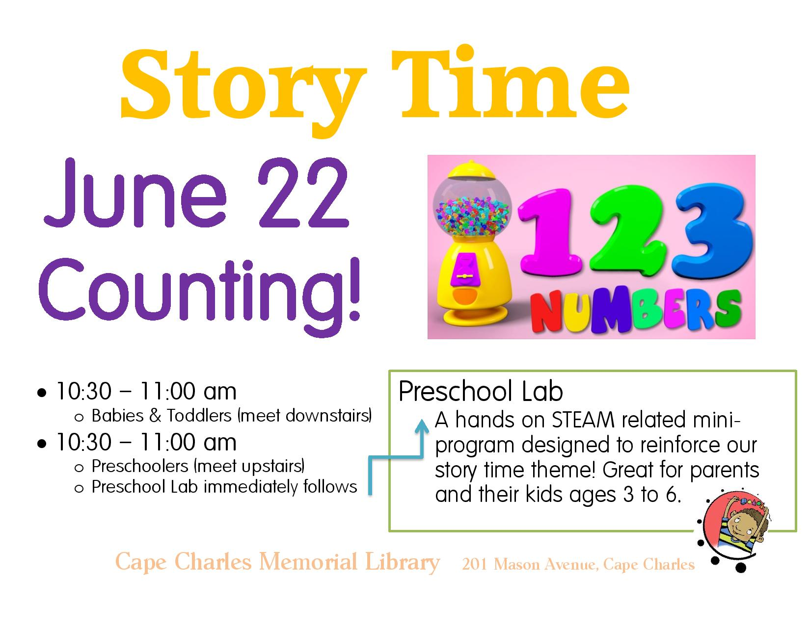 Preschool Lab and Story Time - Counting