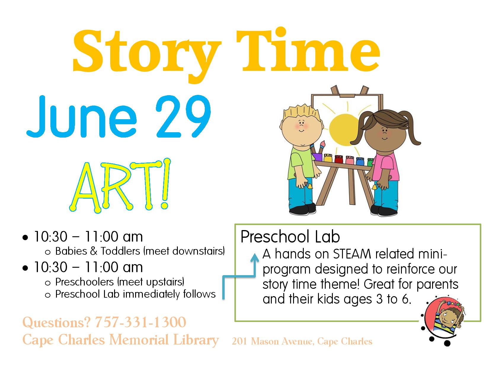 Preschool Lab and Story Time