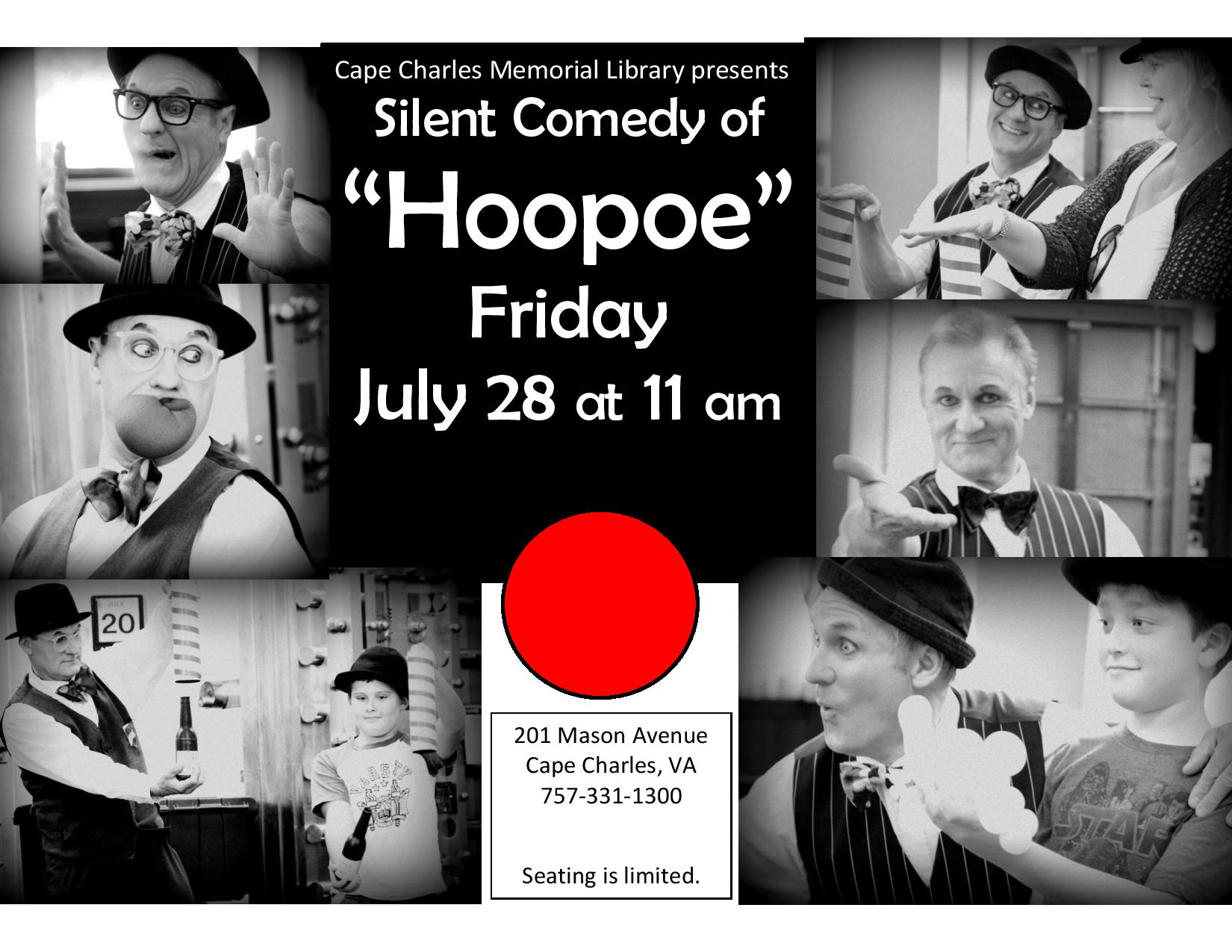 Silent Comedy of Hoopoe @ Cape Charles Memorial Library