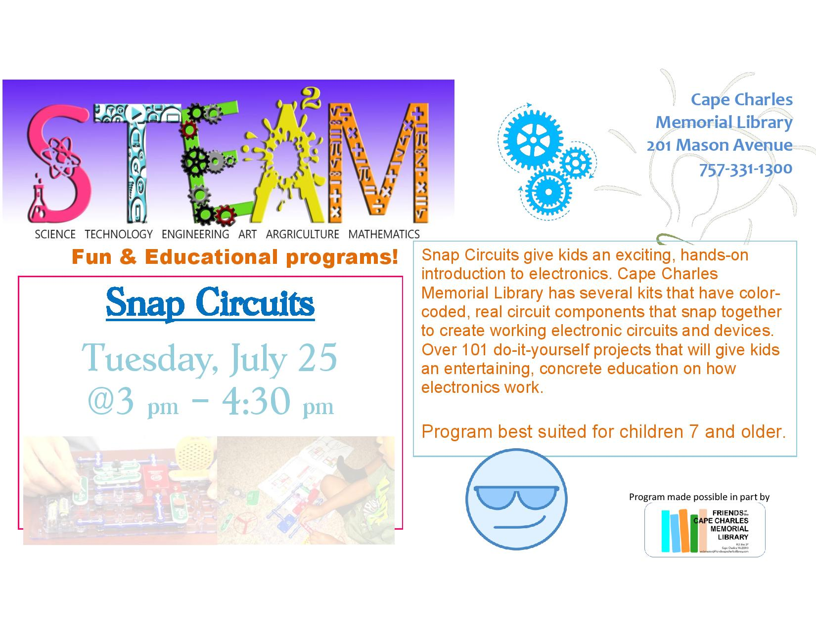 STEAM - Snap Circuits @ Cape Charles Memorial Library