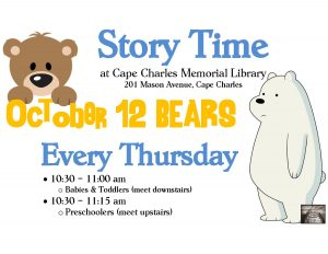 Story Time - BEARS @CCML @ Cape Charles Memorial Library