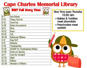 Story Time @CCML @ Cape Charles Memorial Library | Cape Charles | Virginia | United States