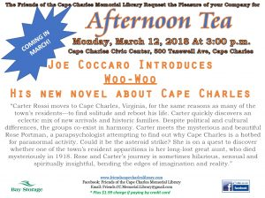 "Joe Coccaro Introduces ""Woo-Woo"", his new novel about Cape Charles"