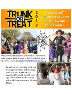 Trunk or Treat! @ Cape Charles Memorial Library