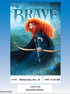 Movie showing of Brave @ ESPL MAIN | Accomac | Virginia | United States