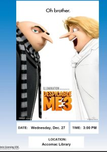 Movie Showing of Despicable Me 3-Accomac Library @ ESPL MAIN | Accomac | Virginia | United States