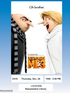 Movie Showing of Despicable Me 3-Northampton Free Library @ Northampton Free Library | Nassawadox | Virginia | United States