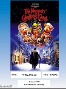 Movie Showing of The Muppet Christmas Carol-Northampton Free Library @ Northampton Free Library | Nassawadox | Virginia | United States