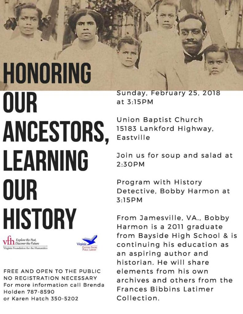 Honoring our ancestors learning our history at Union Baptist Church @ Union Baptist Church | Cape Charles | Virginia | United States