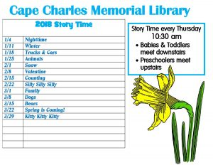 Story Time at Cape Charles Memorial Library @ Cape Charles Memorial Library | Cape Charles | Virginia | United States