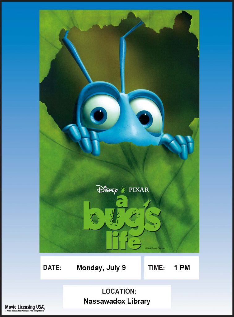 A Bugs Life Movie @ Northampton Free Library | Nassawadox | Virginia | United States