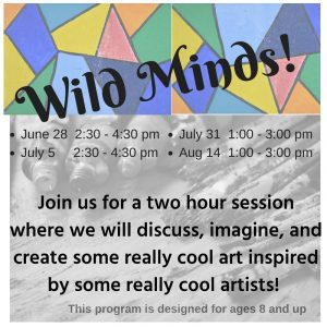 Wild Minds! imagine . . . create @ Cape Charles Memorial Library