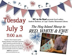 Red, White & Ewe book reading with BIC @ Cape Charles Memorial Library