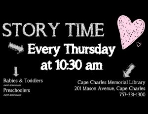 Story Time at CCML @ Cape Charles Memorial Library