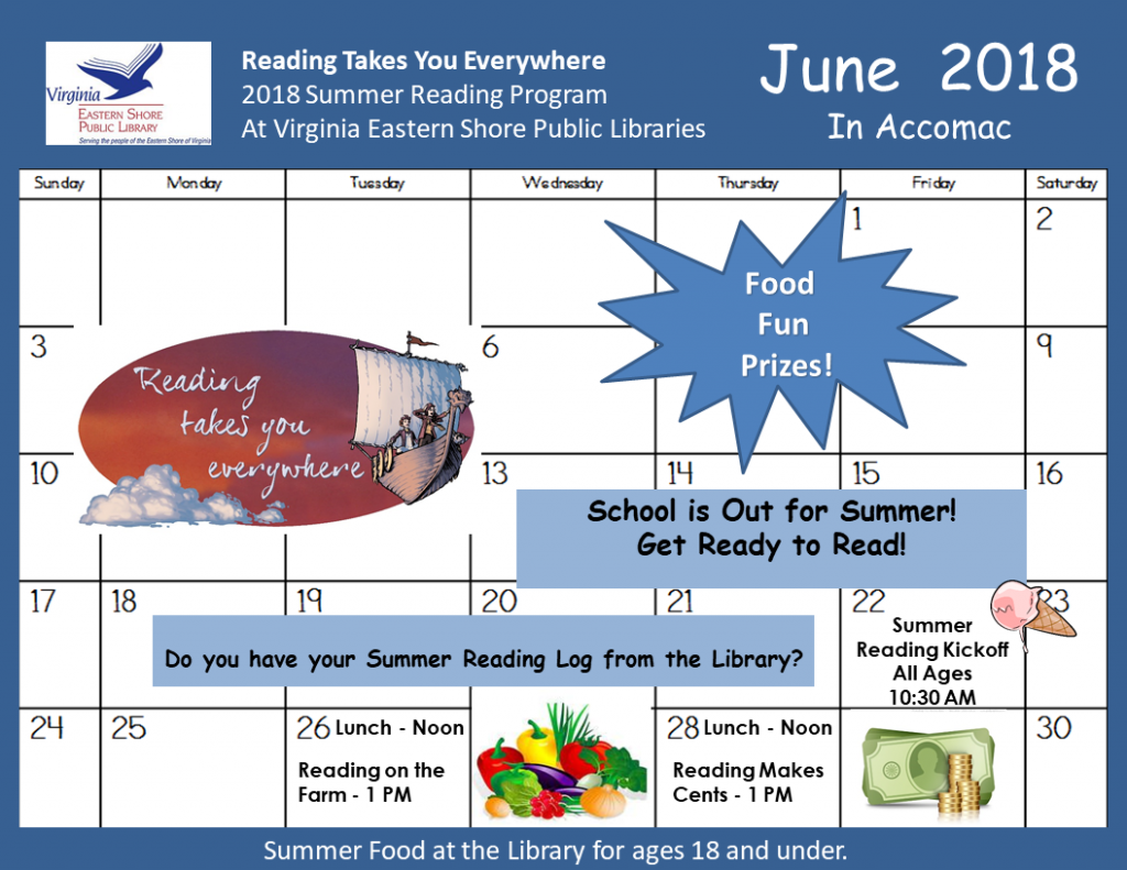 Reading makes cents-summer reading program @ ESPL Accomac | Accomac | Virginia | United States