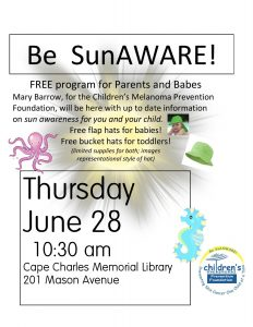 SunAWARE for Moms & Babes @ Cape Charles Memorial Library