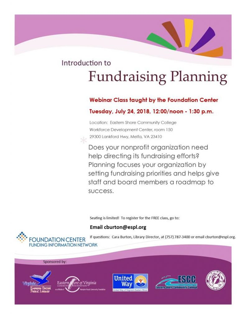 Introduction to Fundraising Planning @ Eastern Shore Community College | Melfa | Virginia | United States