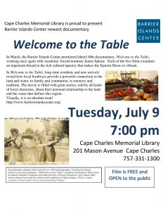 Welcome to the Table - BIC documentary @ Cape Charles Memorial Library