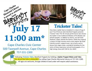 Barefoot Puppets @ Cape Charles Civic Center | Cape Charles | Virginia | United States