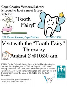 Tooth Fairy visits Story Time @ Cape Charles Memorial Library