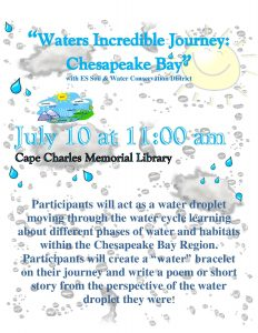 Waters Incredible Journey: Chesapeake Bay @ Cape Charles Memorial Library