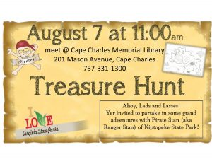 Treasure Hunt with Pirate Stan @ Cape Charles Memorial Library