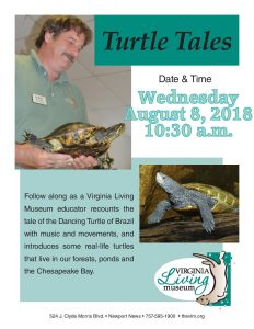 Turtle Tales with Virginia Living Museum @ Cape Charles Memorial Library