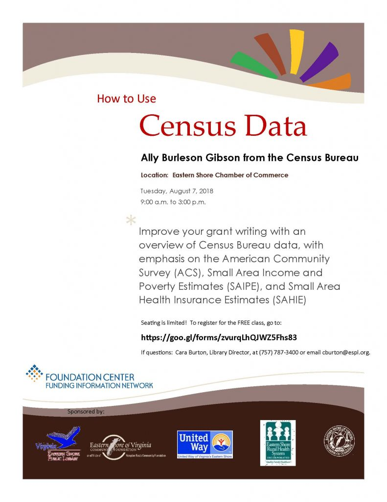 How to use census data @ Eastern Shore Chamber of Commerce | Melfa | Virginia | United States