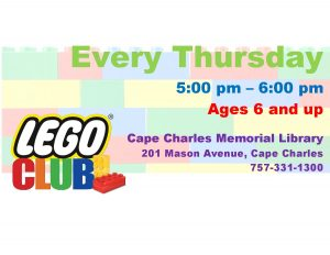 LEGO Club at CCML @ Cape Charles Memorial Library