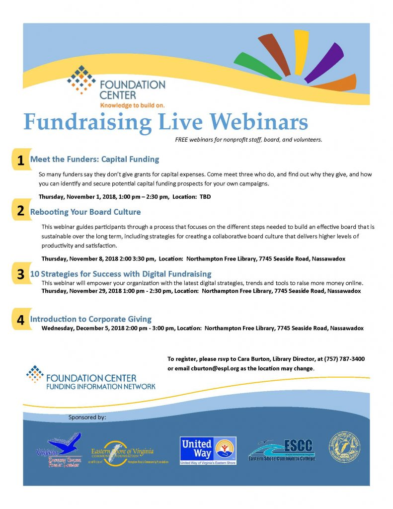 10 Strategies for Success with Digital Fundraising @ Northampton Free Library | Nassawadox | Virginia | United States