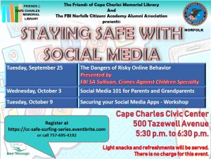 Staying Safe with Social Media @ Cape Charles Civic Center  | Cape Charles | Virginia | United States