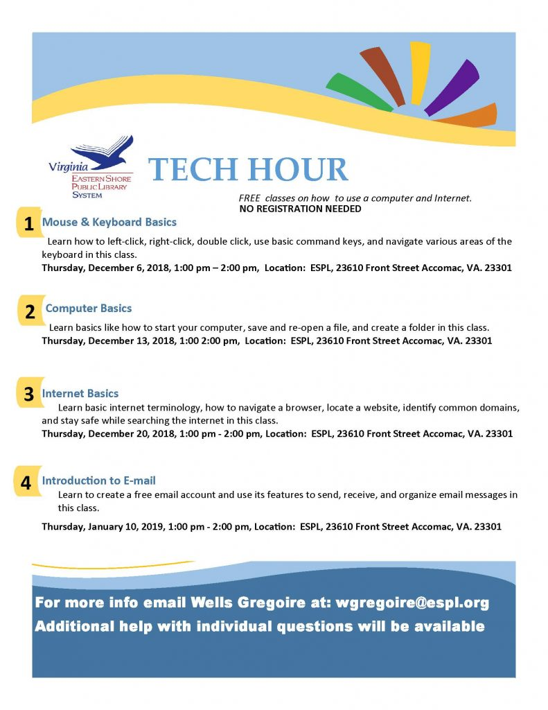 Tech Hour @ ESPL Main | Accomac | Virginia | United States