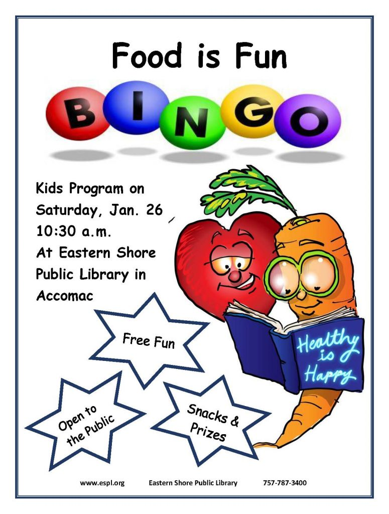 Food is Fun Bingo @ ESPL Accomac