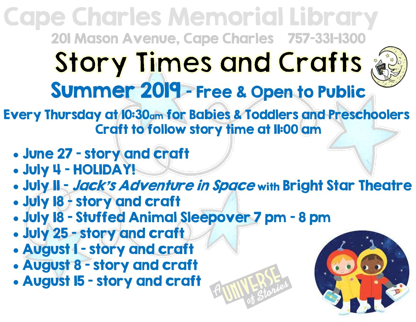 Story Time & Crafts