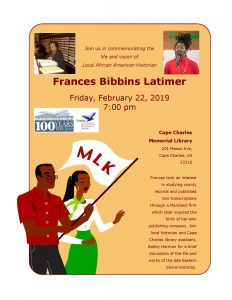 Life and Vision of Frances Bibbins Latimer @ Cape Charles Memorial Library