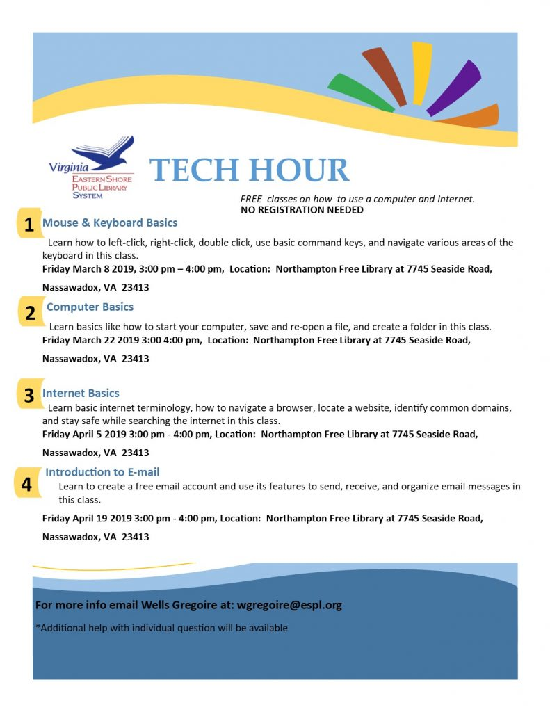 Tech Hour - Northampton Free Library @ Northampton Free Library