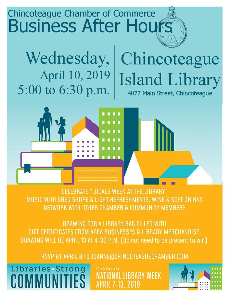 Chamber of Commerce Business After Hours Event @ Chincoteague Island Library