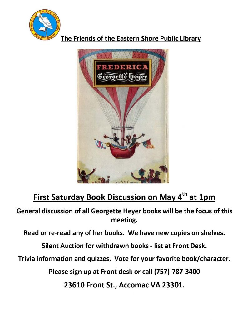 ESPL Friends Book Discussion group @ Eastern Shore Public Library