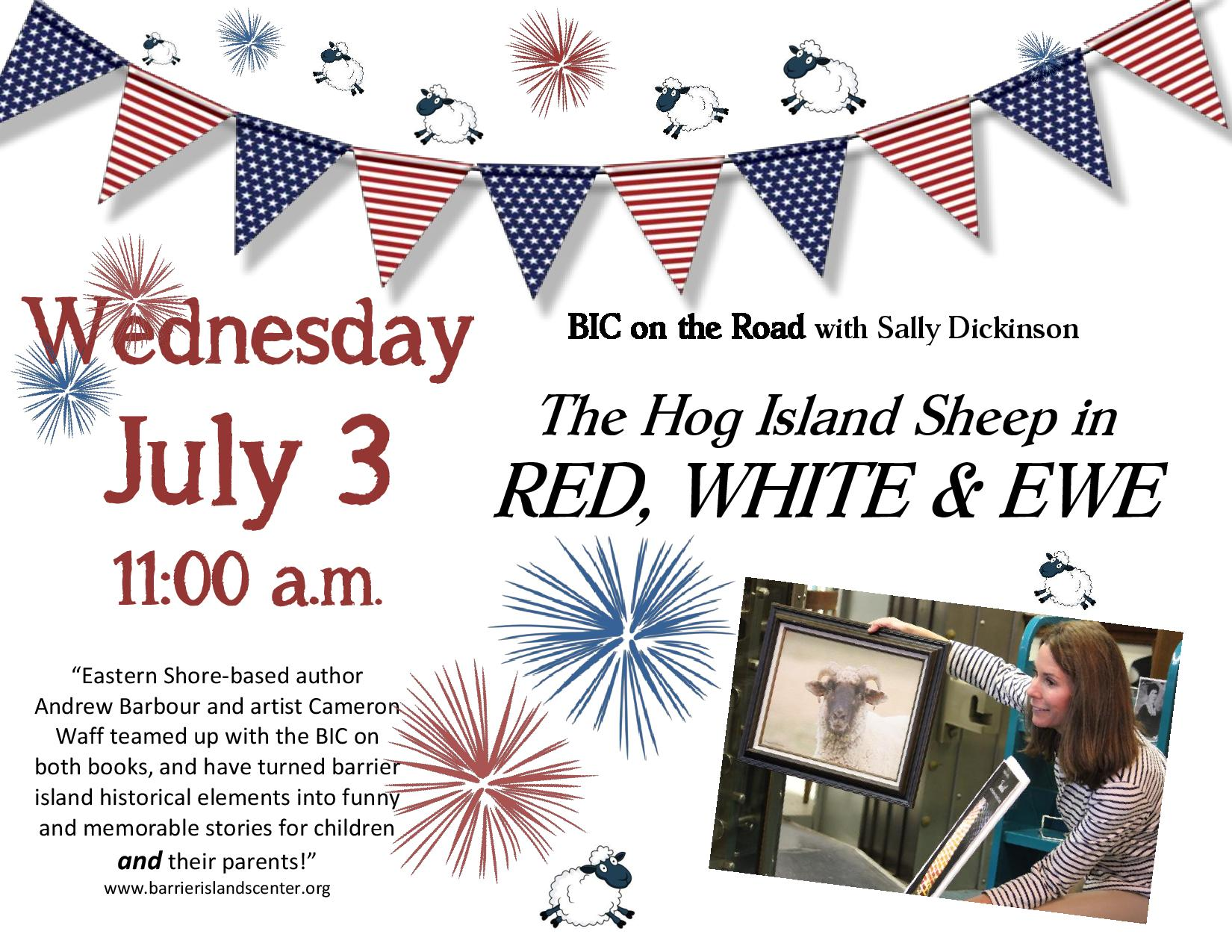 Red, White & Ewe @ Cape Charles Memorial Library