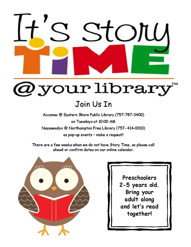 Story time @ EASTERN SHORE PUBLIC LIBRARY