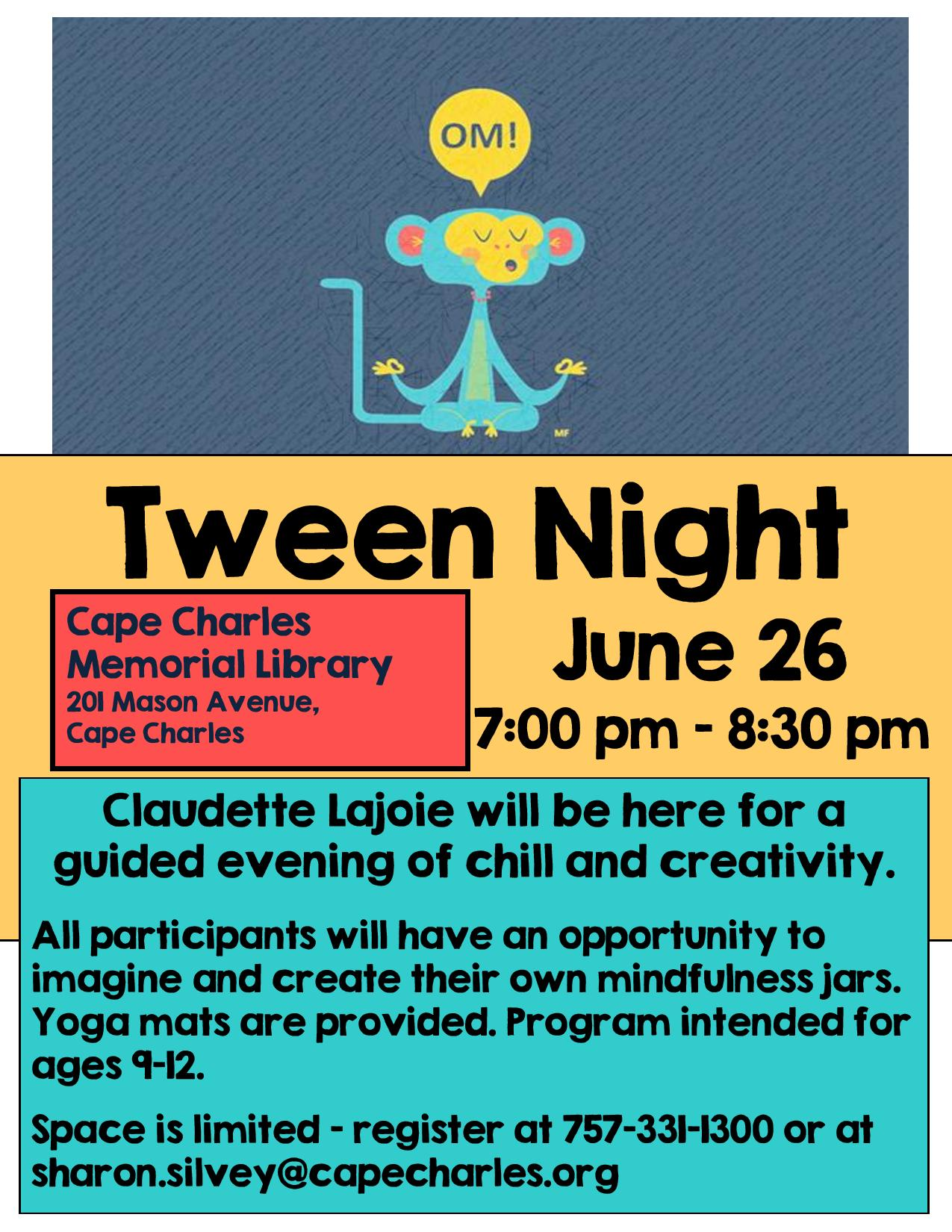 Tween Night @ Cape Charles Memorial Library