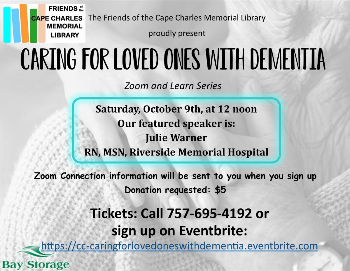 Caring for Loved Ones with Dementia (Zoom & Learn series)